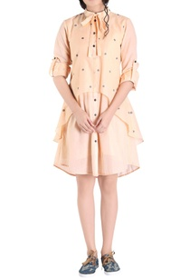 light-orange-jamdani-shirt-dress
