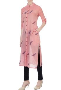 pink-hand-woven-cat-motif-jamdani-tunic