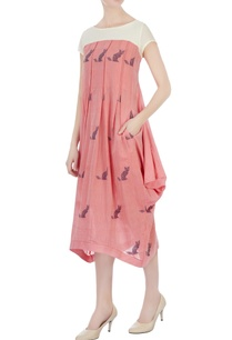 pink-draped-style-tunic-dress