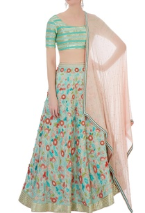 mint-green-peach-silk-cotton-chanderi-3d-embroidered-lehenga-set