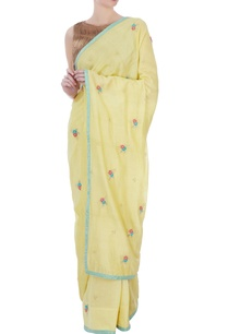 yellow-silk-cotton-chanderi-embroidered-sari