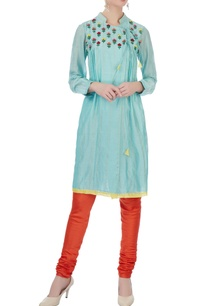 blue-silk-cotton-chanderi-embroidered-angrakha-kurta