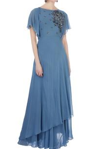 blue-georgette-moti-embellished-gown