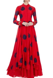 red-cutdana-work-jacket-inner-maxi
