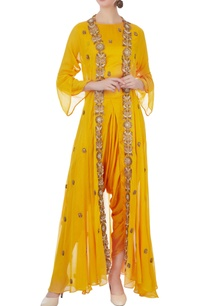 yellow-modal-satin-crop-top-with-jacket-dhoti