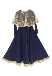 blue-anarkali-with-poncho