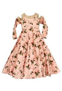 pink-floral-printed-gown