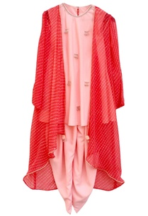 pink-kurta-set-with-jacket