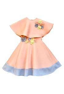 peach-flower-motif-party-gown