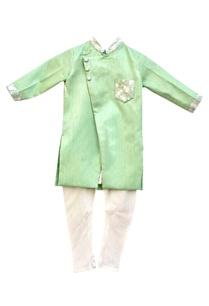 green-kurta-with-white-churidar-pants