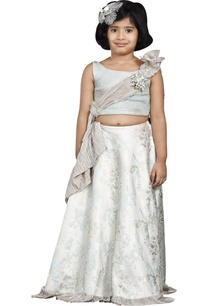 mint-green-embossed-lehenga