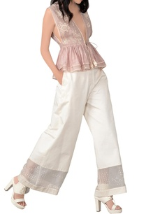 champagne-rose-embroidered-top-and-trouser-set