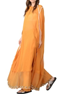 ochre-embroidered-kaftan-and-trouser-set