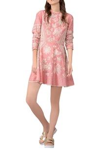 old-rose-embroidered-skater-dress