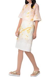 white-yellow-midi-dress