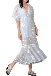 blue-applique-patch-work-midi-dress