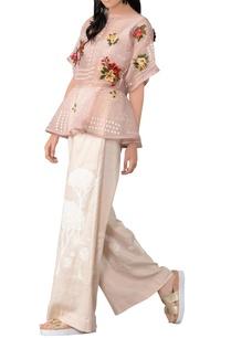 pastel-pink-organza-ruffle-blouse