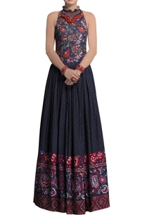 blue-cotton-embroidered-skirt