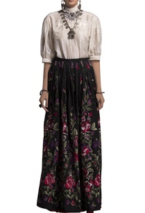 white-embroidered-top-skirt