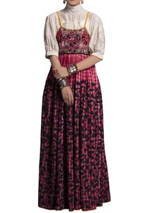red-check-embroidered-maxi-dress