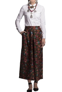 black-printed-chanderi-culottes