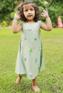 light-green-tassel-organic-cotton-dress