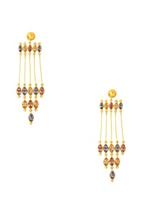 gold-plated-swarovski-column-earrings