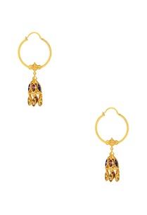 gold-plated-swarovski-jhumka-hoop-earrings