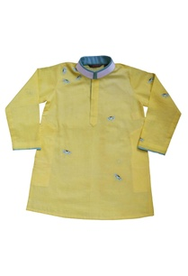 yellow-embroidered-kurta