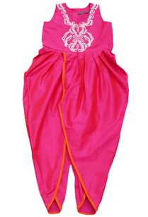 pink-embroidered-dhoti-jumpsuit