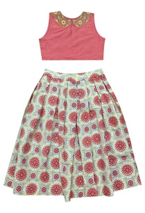 fuschia-embroidered-crop-top-and-maxi-skirt