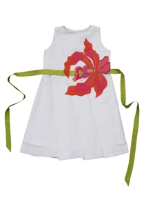 white-applique-skater-dress