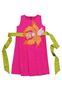 pink-applique-skater-dress