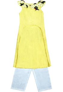 yellow-embroidered-tunic-and-trousers-set