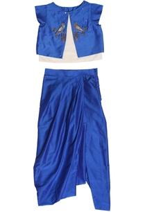 navy-blue-zardozi-top-and-dhoti-set