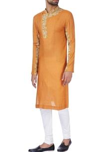 rust-orange-moonga-silk-kurta
