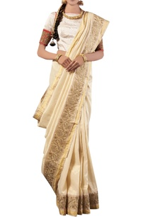 white-golden-embroidery-silk-sari-with-blouse