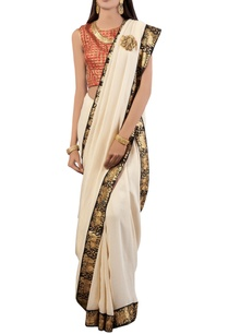 off-white-embroidered-tissue-sari-with-blouse