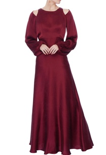 oxblood-satin-open-back-satin-gown