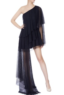 black-tiered-one-shoulder-dress