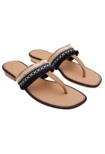 black-tassel-detail-boho-sandals