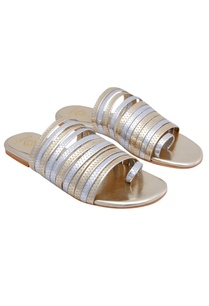 silver-gold-sandals-with-multiple-straps