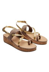 gold-brown-criss-cross-strap-sandals