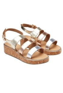 silver-rose-gold-multiple-strapped-sandals
