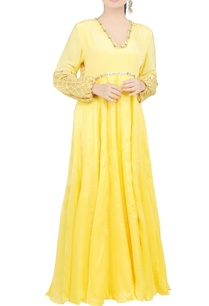 lemon-yellow-embroidered-maxi-dress
