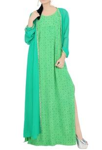 green-printed-maxi-dress
