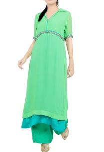 leaf-green-embroidered-knee-length-tunic-and-pant-set