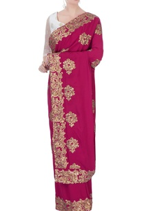 pink-georgette-sequin-sari-with-petticoat-blouse