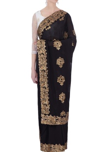 black-georgette-sequin-embroidered-sari-blouse