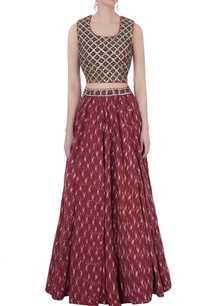rust-ikat-skirt-with-hand-embroidered-top
